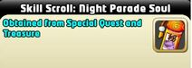 Night parade soul skill scroll