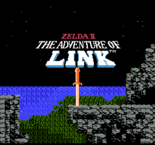 Zelda II Title Screen