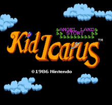 Kid Icarus Title Screen