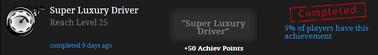 Super luxury driver