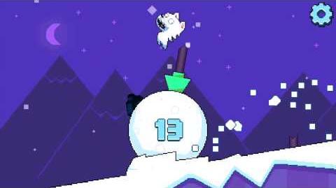 Roller Polar gameplay nighttime