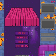 Cosmic Cannon menu