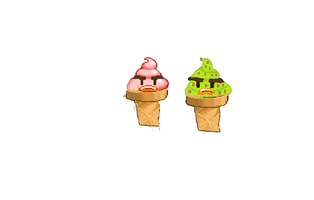 File:Bad Ice cream redraw mint chocolate chip and strawberry.png