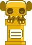 Pink skeleton trophy