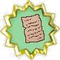 Letter badge
