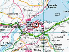 Bangor map