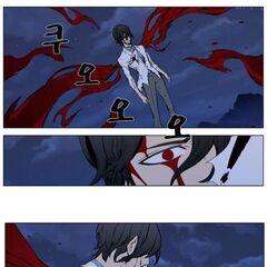 Rai, unable to continue his attack.