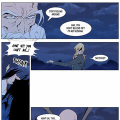 Frankenstein returns the Dark Spear.