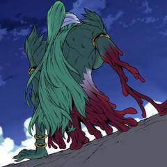 Mirai begins to regenerate.