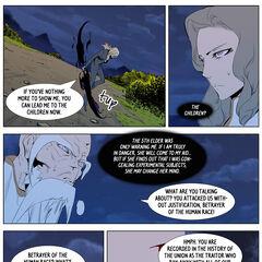 The 9th Elder reveals Frankenstein's past.