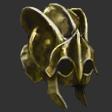 Ridged Hardened Brass Helm