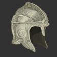 Engraved Angelsteel Helmet