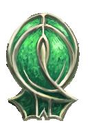 Frozen Emerald Tear Shield