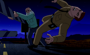 Old George fighting