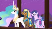 Princess Celestia and horses