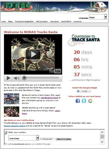 File:NORAD Tracks Santa - Homepage - Pre-Xmas - 2010.jpg