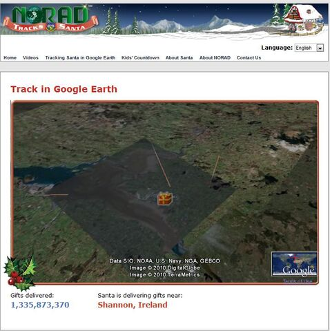 File:NORAD Tracks Santa - Google Earth - Delivering Gifts.jpg