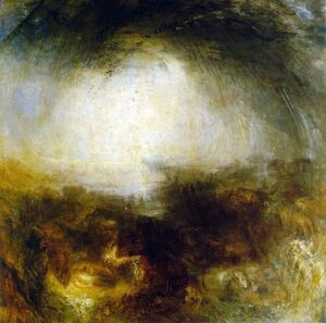 607px-William Turner - Shade and Darkness - the Evening of the Deluge
