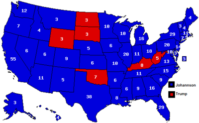 Map of the 2020 Election by State.