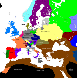 Europe 1430 36 map
