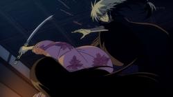 Yōhime cutting Nurarihyon's arm