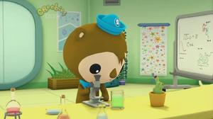 Shellington in his Lab