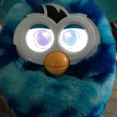 Close Up Of Furby BOOM! Blue Waves