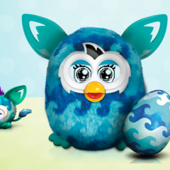 A Furby BOOM! with a furbling.