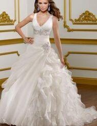 ElegantWeddingDressALineCourtTrainGardenOrOutdoorHallElasticWovenSatinOrganzaHotSaleLS57364-0