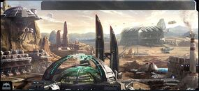 Ogame Dry Planet Facilities Backdrop