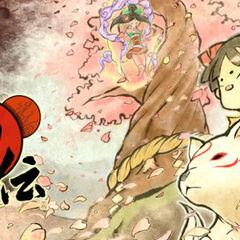 Promotional artwork for Ōkamiden featuring Kuni.