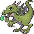 Rowdy Dragon (green)