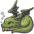 Lazy Dragon (green)