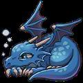 Lazy Dragon (blue)
