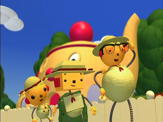 File:Percy Polie's cucumber costume, Olie Polie and Billy Bevel.jpg