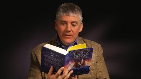 Rick Riordan reads page one of The Sword of Summer