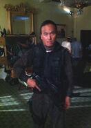 OHF- Steve Kim as one of the Korean commandos on-set