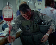 OHF- injured soldier at hospital
