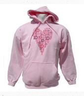 Heart Design Pink Hoodie
