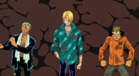 Zoro, Sanji and Usopp Are Freed