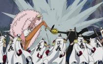 Doflamingo and Crocodile Clash