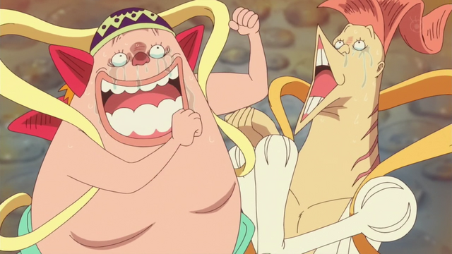 File:Manboshi and Ryuboshi Try to Cheer Shirahoshi Up.png