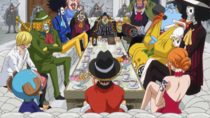 Straw Hat Pirates Meet Fire Tank Pirates