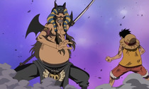 Hannyabal About to Fight Luffy.png