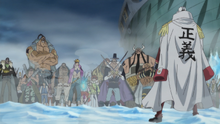 Akainu vs Crocodile & Whitebeard Commanders