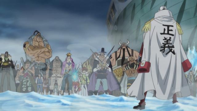 File:Akainu vs Crocodile & Whitebeard Commanders.png