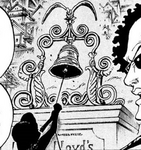 Luffy Rings Ox Bell in Manga
