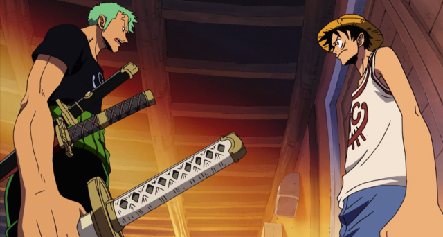 File:Zoro Discusses Usopp's Membership with Luffy.png