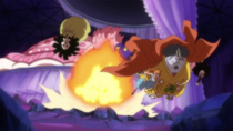 Jinbe Saves Brook and Nami from Big Mom