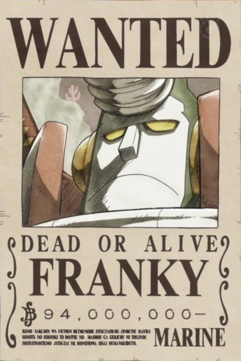 Image cyborg franky 39 s wanted one piece wiki - One piece 2 ans plus tard wanted ...